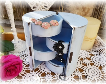 Shabby chic - blue jewelry box