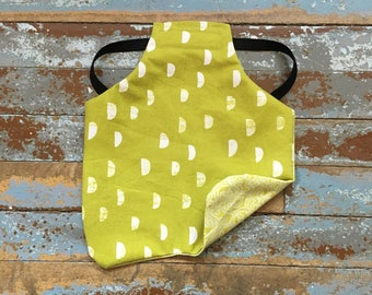 Chicken Saddles - Hen Aprons *REVERSIBLE* Half Moons in Grass