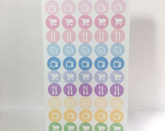 Home Dot Stickers