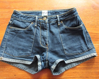 sass & bide denim shorts (size 26)