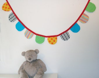 Garland of pennants, baby bunting, decoration nursery