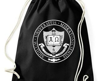 Miskatonic University Arkham logo HP Lovecraft gymnastics bag