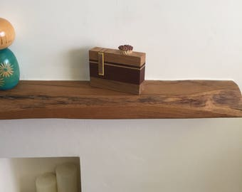 Wood match holder with stricker. Perfect gift.