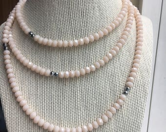 Pink layering necklace