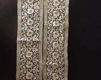 Antique French Lace, Victorian Vintage Lace, Antique Lace Trim, Handmade Old Lace, French Linen Lace, Antique Lace, Vintage Lace Trim