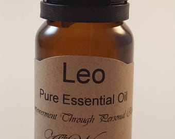 10 ml Leo Essential Oil by Awiser   Astrology sign  5th sign of the zodiac energy of the Natal Sun  Made to Order   ready to use