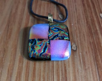 Fused Glass Jewellery, Dichroic Glass Jewellery, Hand Made Jewelry, Fused Glass Pendant, Fused Glass Necklace, Fused Glass Jewelry