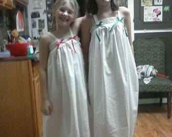 Handmade heirloom nightgowns