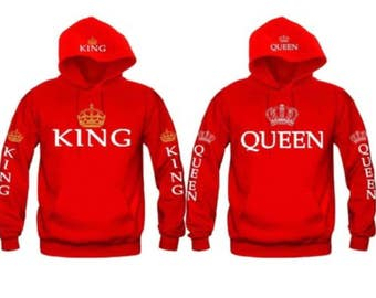 KING and QUEEN HOODIES  new all sizes s- 3xl