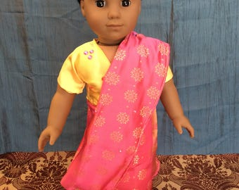 A Sari made for an 18 inch doll like an American girl