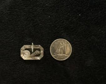 Tiny seashells in a tiny pendant