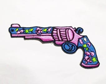 Cute gun Iron on Patch.