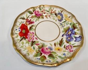 Vintage Hammersley Queen Anne Pattern Bone China Dessert/Pie Plate 1930s - 1940s  Chintz