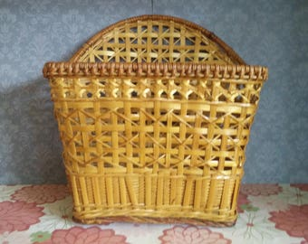 Letter Basket / Bicycle Basket - Chinese Rattan