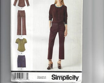 S1783, Simplicity, Sewing, Pattern, Top, Pants, Skirt, Casual, Work