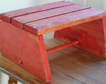 Vintage Child's Step Stool, Nursery Decor, Country, Cottage, Shabby Chic