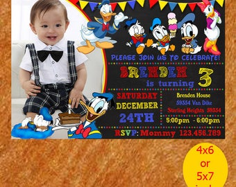 Baby Donald Duck Invitation,Baby Donald Duck Birthday Invitation,Baby Donald Duck Birthday,Baby Duck Party,Baby Printable, Instant Download