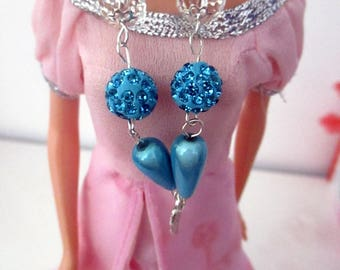 Chain necklace with beads and pendant for Barbie dolls
