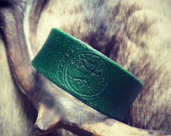 Leather Bracelet Tree of Life
