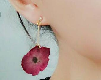 2017076#SPRING COLLECTION_Cherry Blossom Perseved Flower Earrings