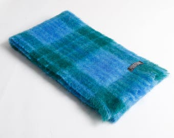 Green/Turquoise/Blue Mohair Scarf