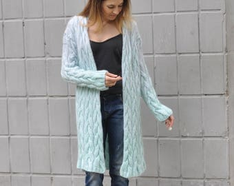 Hand knitted cardigan S-M