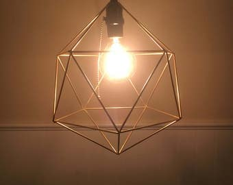 Geometric hanging light