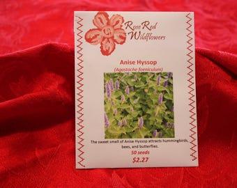 Anise Hyssop Flower Seeds (50 seeds)