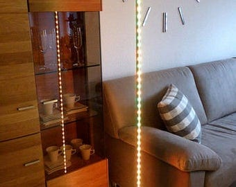 Elegant and timeless floor lamp with RGB LED