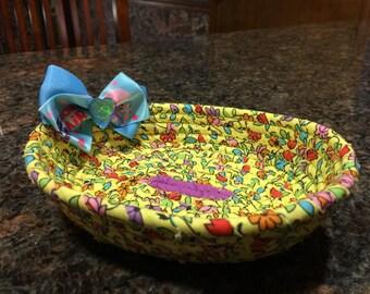 Girls basket.  One-of-a-kind handmade basket for girls.
