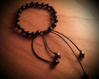 Matte Onyx Adjustable Knotted Bracelet