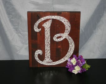 Custom Personalized Monogram String Art | Wedding Gift | Wedding Decor | Anniversary Gift | Handmade | Made to Order | Wood Sign