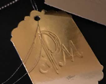 Engraved Monogram Tag