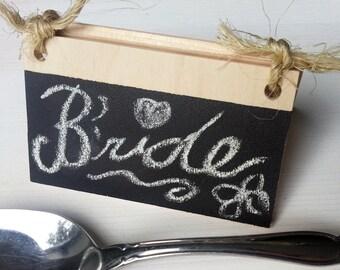 Rustic Chalkboard Wedding Place Cards