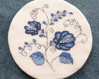 Easy cross stitch pattern, gzel motif