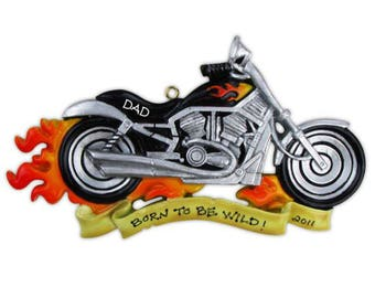 Motorcycle Unique Personalized Christmas Ornament + FREE SHIPPING! Harley Davidson