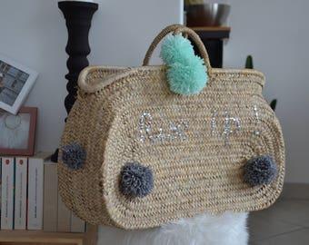 Customizable wicker basket