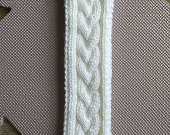 White Braided Earwarmer