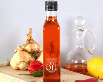 Smoked Garlic and chilli oil, chilli olive oil, gift for him, gift for her, chilli lover gift