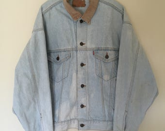 Levi's Denim Jacket Corduroy Collar (Large)