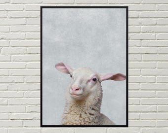 SHEEP print, nursery art print, farmhouse decor, sheep poster, farm wall art, cute farm animal art, cute sheep art, sheep picture, sheep art