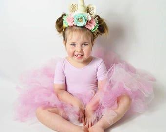Unicorn Flower Crown Headband