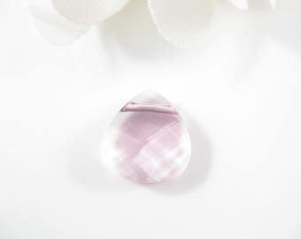 1PC - 15mm - Light Pink Rose Briolette Pendant, Swarovski Crystal Pendant Supplies (6012)
