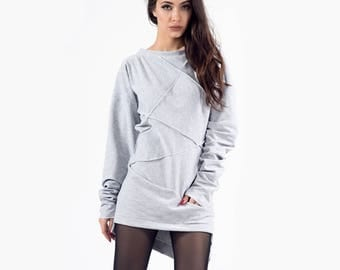 Gray sweatshirt, Sweatshirt, Women sweater,  Oversize Sweatshirt, Pullover sweatshirt, Gray jumper, Ladies Sweatshirt, Gray sweater