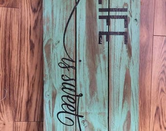 custom painted and stained bedroom decor
