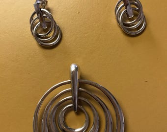 Peruvian silver jewelry set