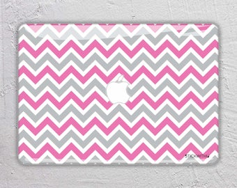 colorful Shapes pattern zig zag pink MacBook Decal  Macbook Skin Apple MacBook Air Pro or Pro with Retina FSM026