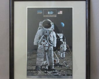 One Giant Leap Full Color Foil Etch Reproduction by John Berkey