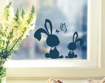 Wall decals window image Bunny Bunny rabbit (M1859)