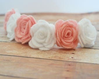 Set of 3, Felt Flower Headband